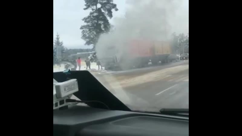 Пожар в Орше, возле электросетей