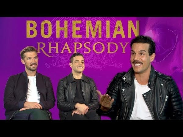 Rami Malek meets Federico Mercurio Freddie Mercury und Brian May BOHEMIAN RHAPSODY