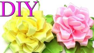 Цветы канзаши мк  🌹 DIY kanzashi flowers tutorial