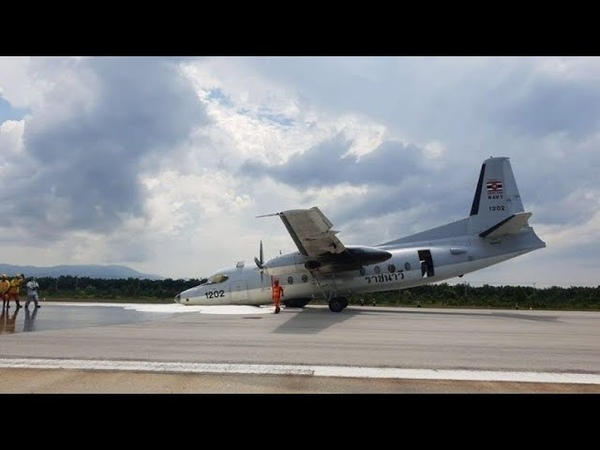 ROYAL THAI AIR FORCE FOKKER F 27 LANDED WITHOUT NOSEGEAR AT NARATHIWAT AIRPORT IN THAILAND