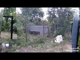 Монтаж скелета + вход.группаАлексеевка, сварили скилет на забор. Работали под Пишите, звоните