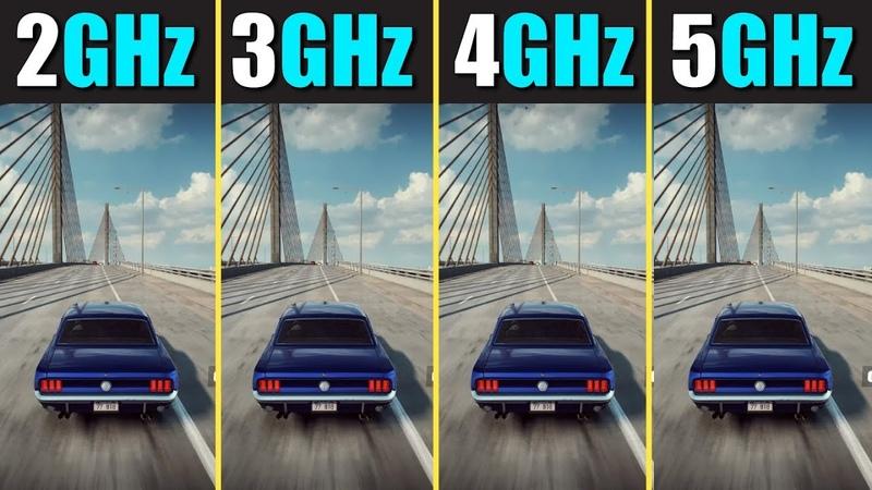 CPU Clock Speed Comparison 2GHz vs 3GHz vs 4GHz vs 5GHz
