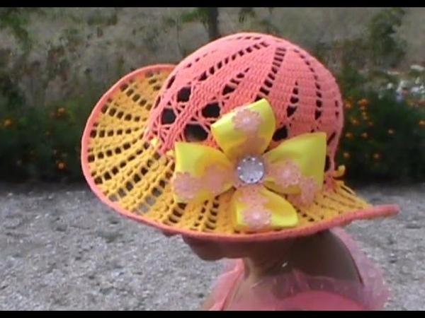Очень красивая летняя шляпка Часть 1 Very nice summer hat Part 1