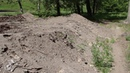 дорожный смет на берегу Озера Линево присыпали землей и отчитались что убрали