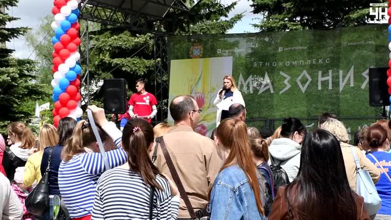 «Волжская палитра» Гимназии № 5 в парке 500-летия Чебоксар