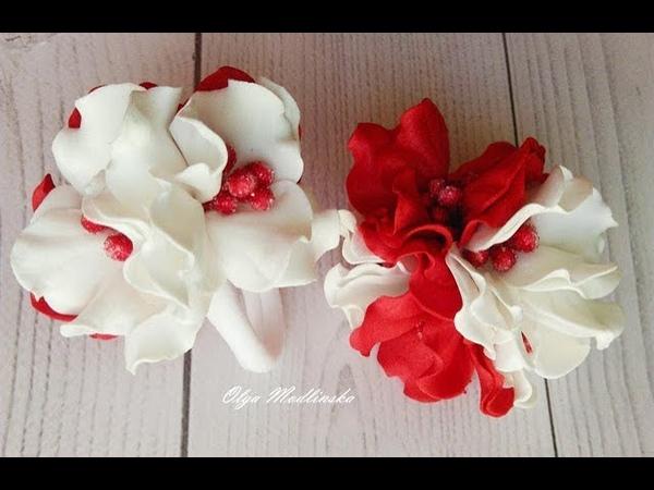 Простые цветочки с фоамирана на резинках. Мастер класс.