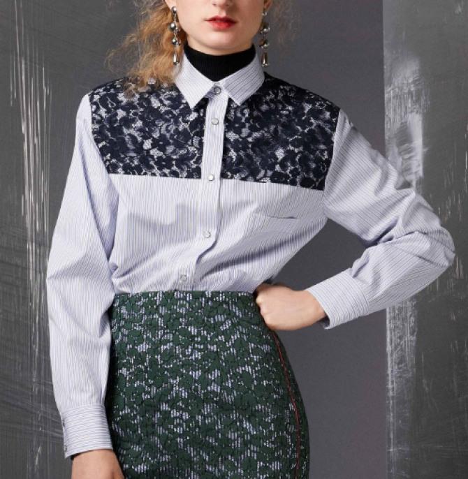 Фото дизайнерских блузок 2019 на любой случай - для офиса, школы, колледжа, вуза