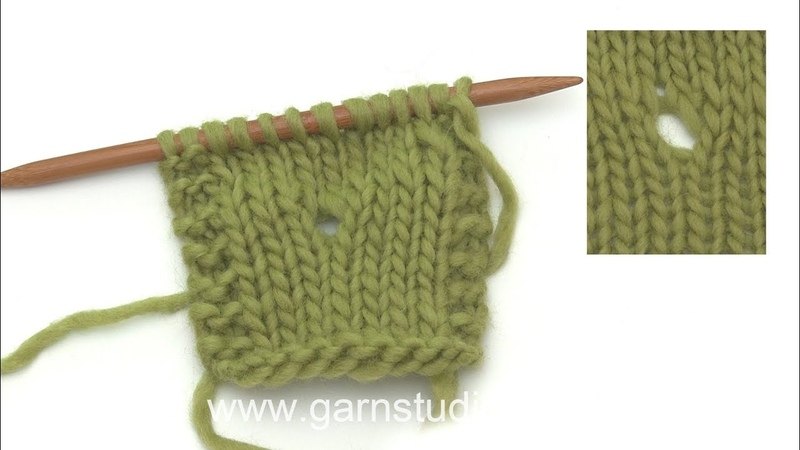 How to work a double yarn over purl and purl twisted