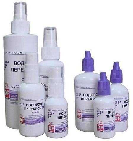 Перекись водорода в домашней аптечке. * Боли в ушах. 1 ч.л. растворенного в воде гидроперита (50 мл воды , 1 таблетка) закапывать в уши или вводить тампоны, смоченные в перекиси. * Пародонтоз,