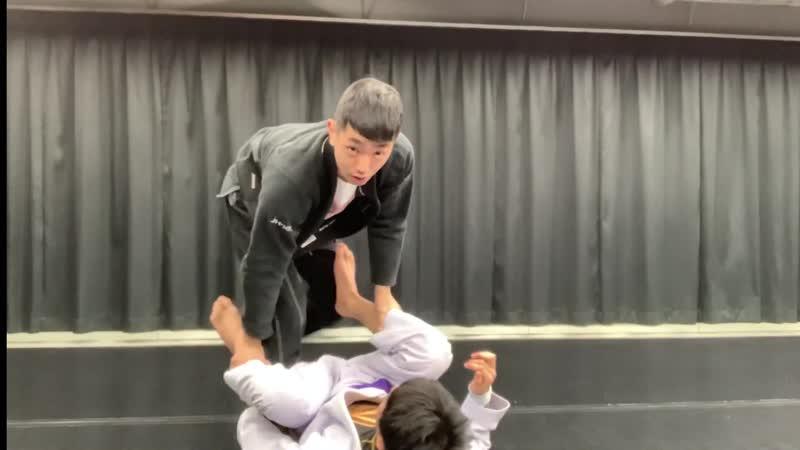 Tomoyuki Hasimoto Take back with twister hook from delariva position