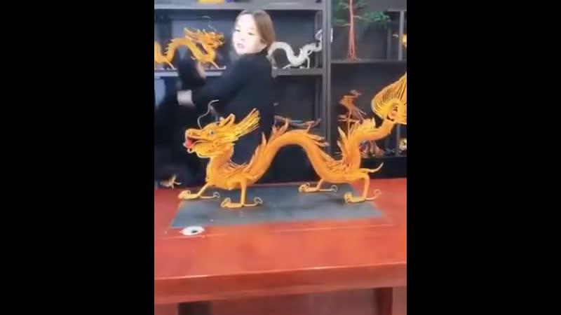Крутой дракон из проволоки