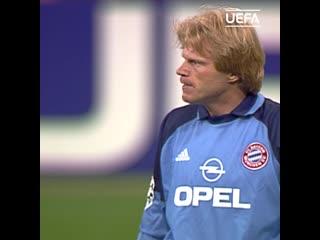 Оливер Кан в финале Лиги чемпионов-2001