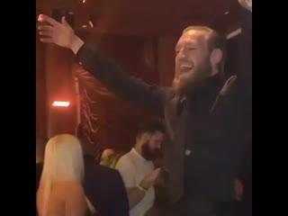 Конор Магрегор на вечеринке после боя с Ковбоем NR