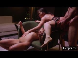 Morgan Lee, Adriana Chechik - Earned It Part 2 [Black Hair, Blow