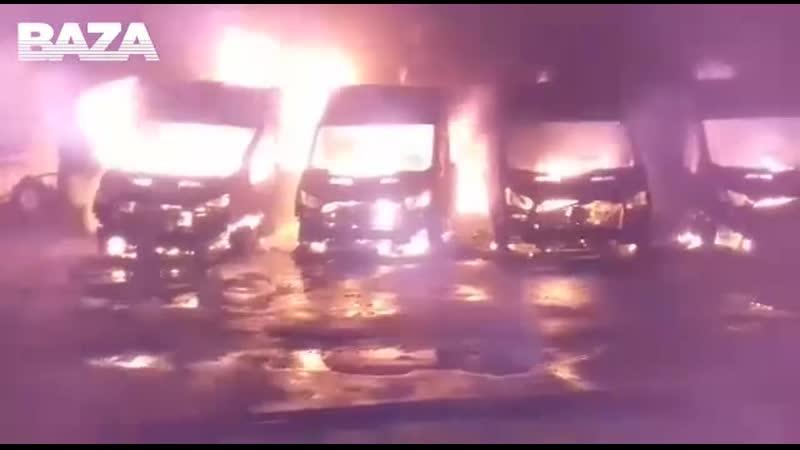 В Подмосковье подожгли десятки машин контроля скорости