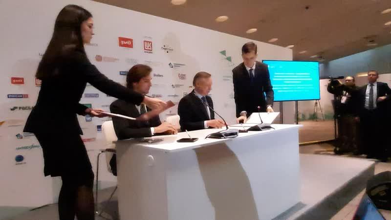 Беглов подписал соглашение с Закрытым акционерным обществом Русская медиагруппа
