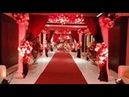 Wedding Hall Main Entrance Red White Theme by Extreme Flowers Event Management