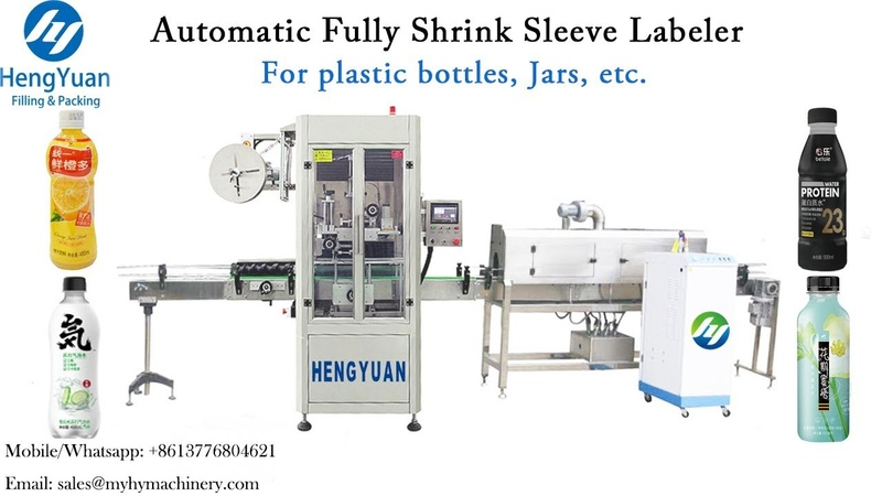Fully Automatic Shrink Sleeve Labeling Machine for Plastic Cup Whole Body Label Applicator