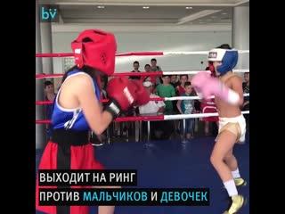 10-летняя девочка стала сенсацией в боксе