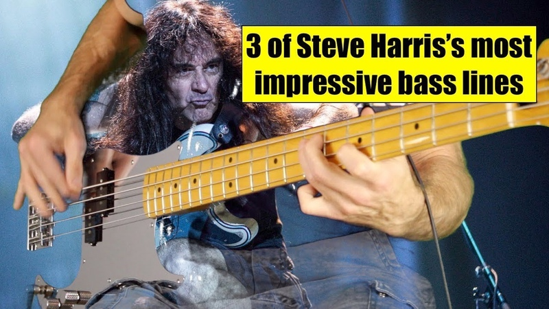 3 of Steve HARRIS's most impressive bass lines with genuine drums