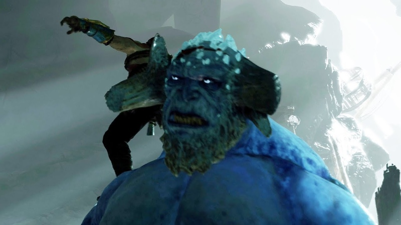 God of War PS4 Ice Troll Boss Fight 7 Give Me God of War Hard Difficulty 4K