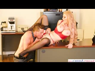 Casca Akashova - CASCA AKASHOVA WITH HER BIG TITS FUCKS A YOUNG STUD IN HER OFFICE [Big Fake Tits, Blonde, BlowJob, Cum In Mo]