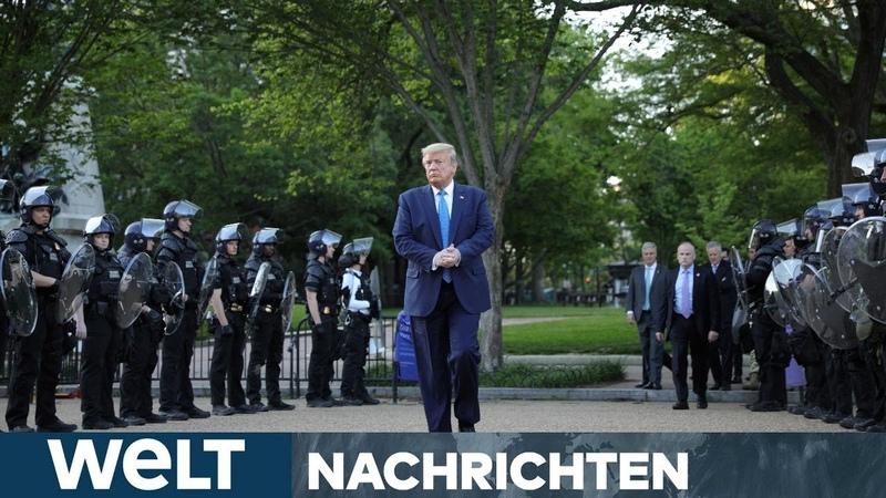 WELT NEWS IM STREAM Härte statt Dialog - Trump kennt nur ein Mittel gegen die Proteste