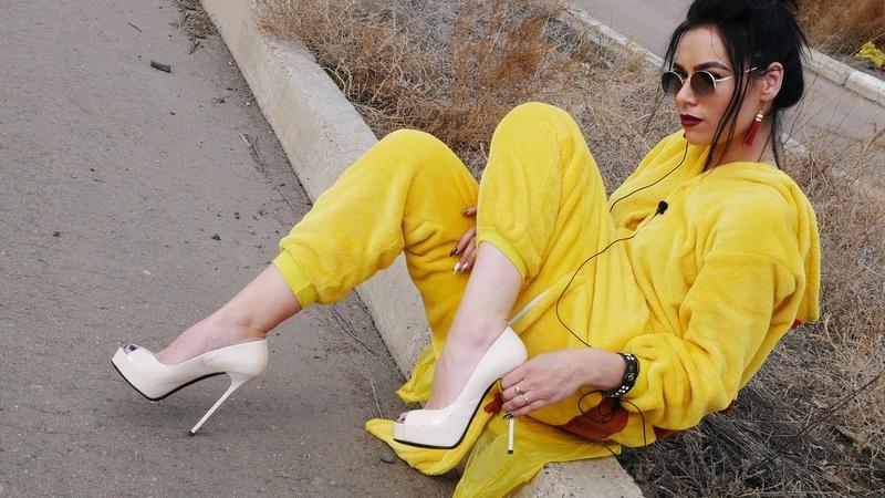Kristina's Gianmarco Lorenzi peep toe platform stiletto heels beige patent leather pumps Size 38