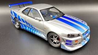 Building a Replica Nissan Skyline R34 GT-R from 2 Fast 2 Furious in 124 scale