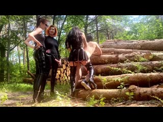 Evil Woman - Strapon Gang bang in the forest with Lady Fairytale and Lady Perse