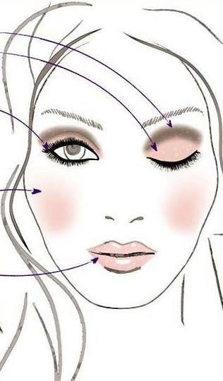 МАКИЯЖ БЕЗ МАКИЯЖА: Глаза:Нанесите светлый матовый оттенок на все подвижное веко, в складку века нанесите коричневый или темный бежевый оттенок. Хорошо растушуйте. Накрасьте верхние и нижние