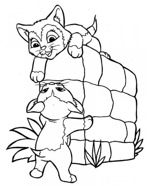 Раскраска Милые животные Распечатай и раскрась!
