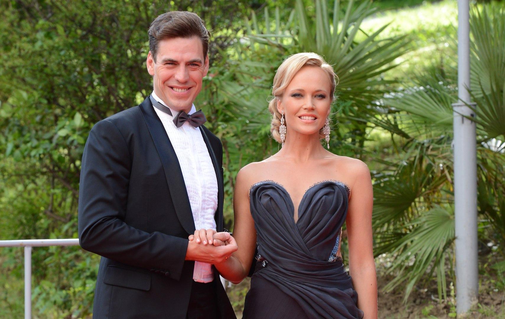 Дмитрий Дюжев с женой Татьяной.