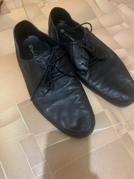 Мужские туфли 45 размер. Натуральная кожа, мягкие,...