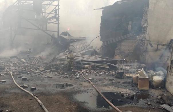 🔺 В Рязанской области загорелся цех по производств...