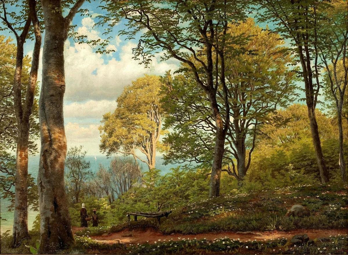 Педер Мёрк Мёнстед (Peder Mørk Mønsted) - датский художник-реалист, наиболее известный своими пейзажами, наполненными ясностью света и воздухом, что сделало его ведущим пейзажистом своего времени в Дании.