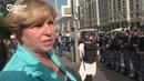 Женщина критикует гвардейцев и... они уезжают