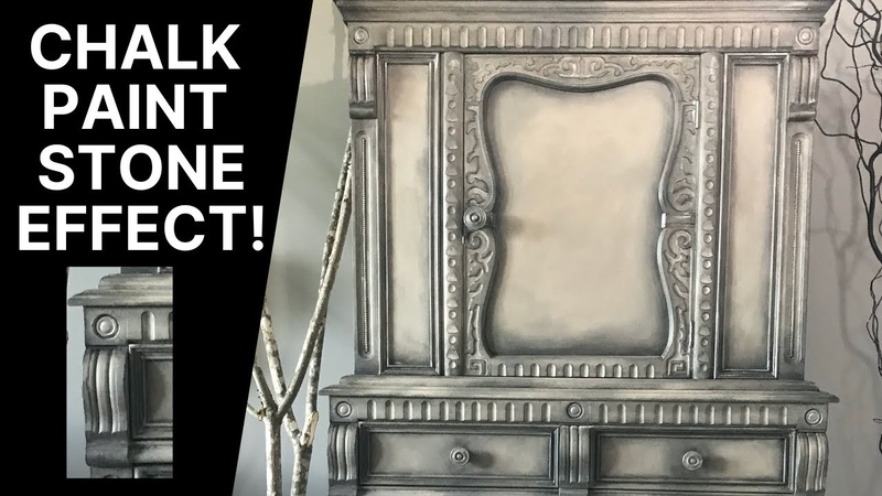 Chalk Paint Stone Effect using Chalk Paint Ragging and Stippling technique