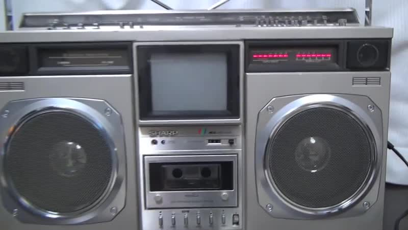 SHARP CT 6001 TV The Seacher 1980 Vintage Boombox Ghettoblaster Made in Japan