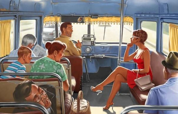 В автобус зашла женщина с рыдающей дочкой - НЕ АЧЮ В АДИК! АМОЙ АЧУ! Так и хотелось зарыдать всем автобусом! Каждый ехал в свой АДИК! и всем безумно хотелось