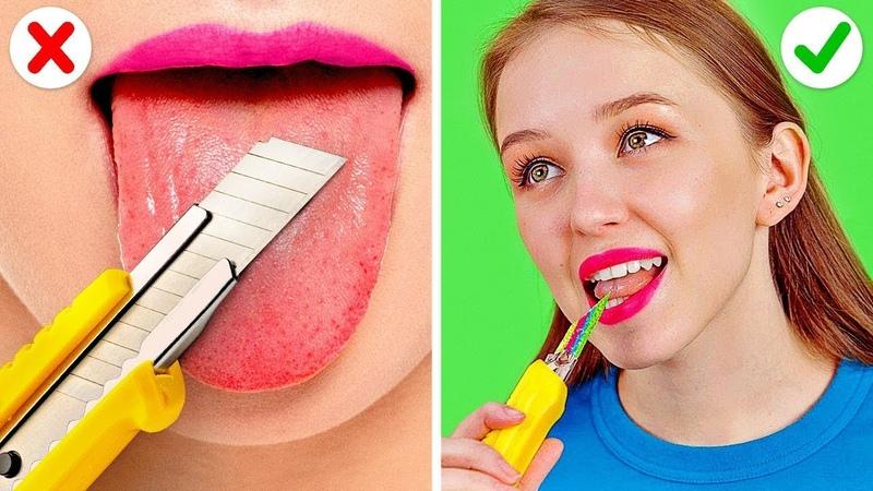 БЕЗУМНЫЕ ТРЮКИ С КОНФЕТАМИ || Сладкие лайфхаки и розыгрыши с конфетами