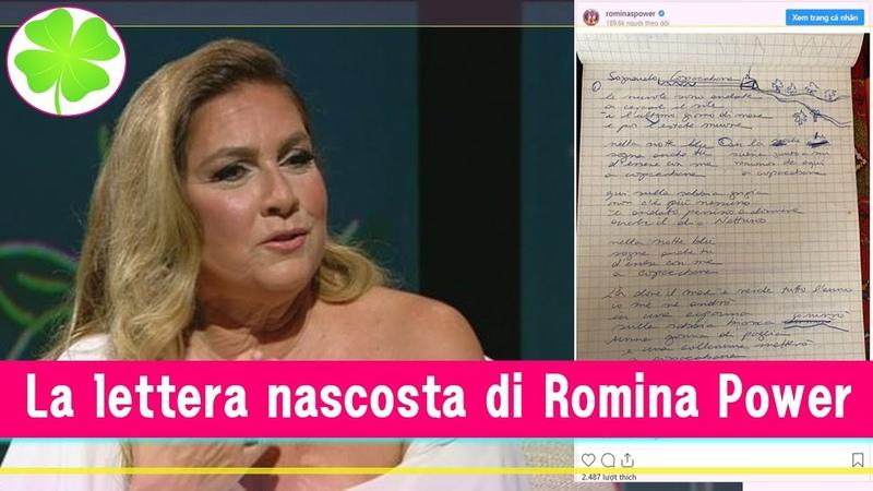 Romina Power Trovata la lettera chiusa nel cassetto Qual è il passato che Romina vuole nascondere