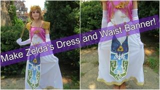 How To Make Zelda's Dress and Belt Banner Making My Zelda Cosplay Pt 4/4