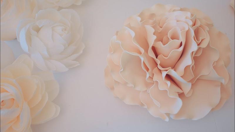 украшение на свадебную машину цветок из фоамирана