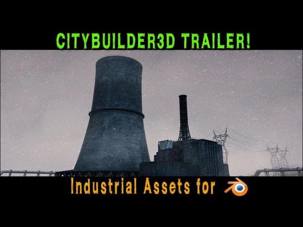 CityBuilder3d Industrial Add-on for Blender Trailer (New Assets!)