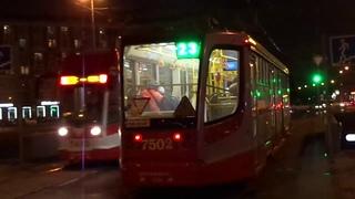 """Трамвай """"7502 по 23"""" Петербурга 10-206: 71-623-02 (УКВЗ) б.7502 по №23 ()"""
