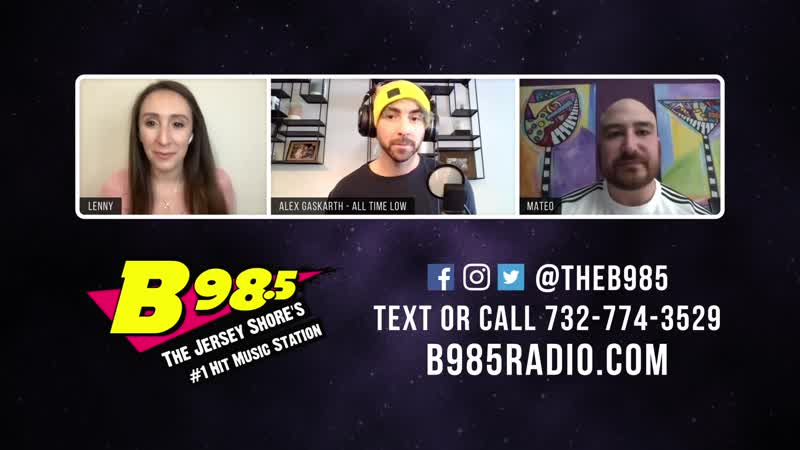 B98.5 Mateo Lenny Interview Alex Gaskarth (All Time Low)