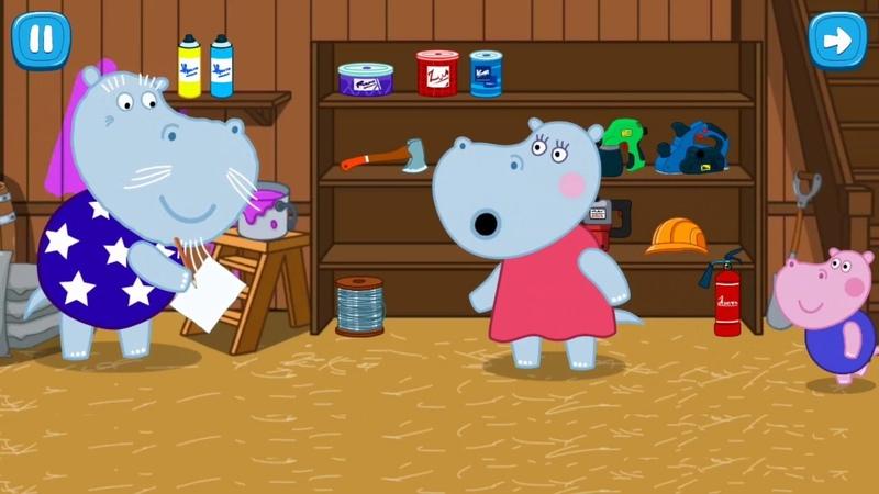 Hippo in the construction shop Cartoons for Kids StopCoronavirus Мультфильмы 河马在一家建筑店 停止冠状病毒