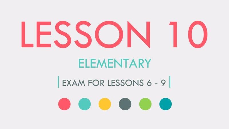 ESL Elementary Online English Course Lesson 10 Basic English Grammar Pronunciation New Words