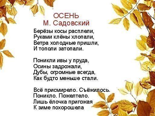 УЧИМ С ДЕТКАМИ СТИХИ ПРО ОСЕНЬ Можно также использовать стихи для сопровождения осенней поделки.